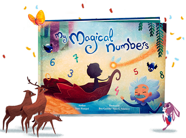 graphic freeuse download Magic clipart magic book. My magical numbers personalized.