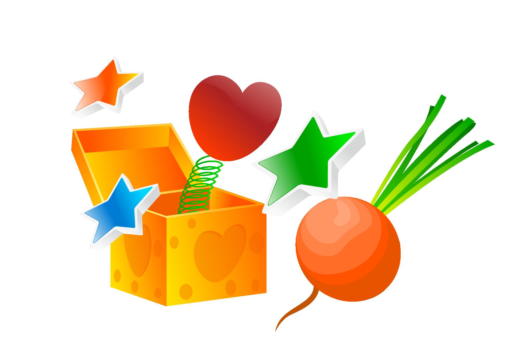 vector download Valentine s day gift. Magic clipart magic box.