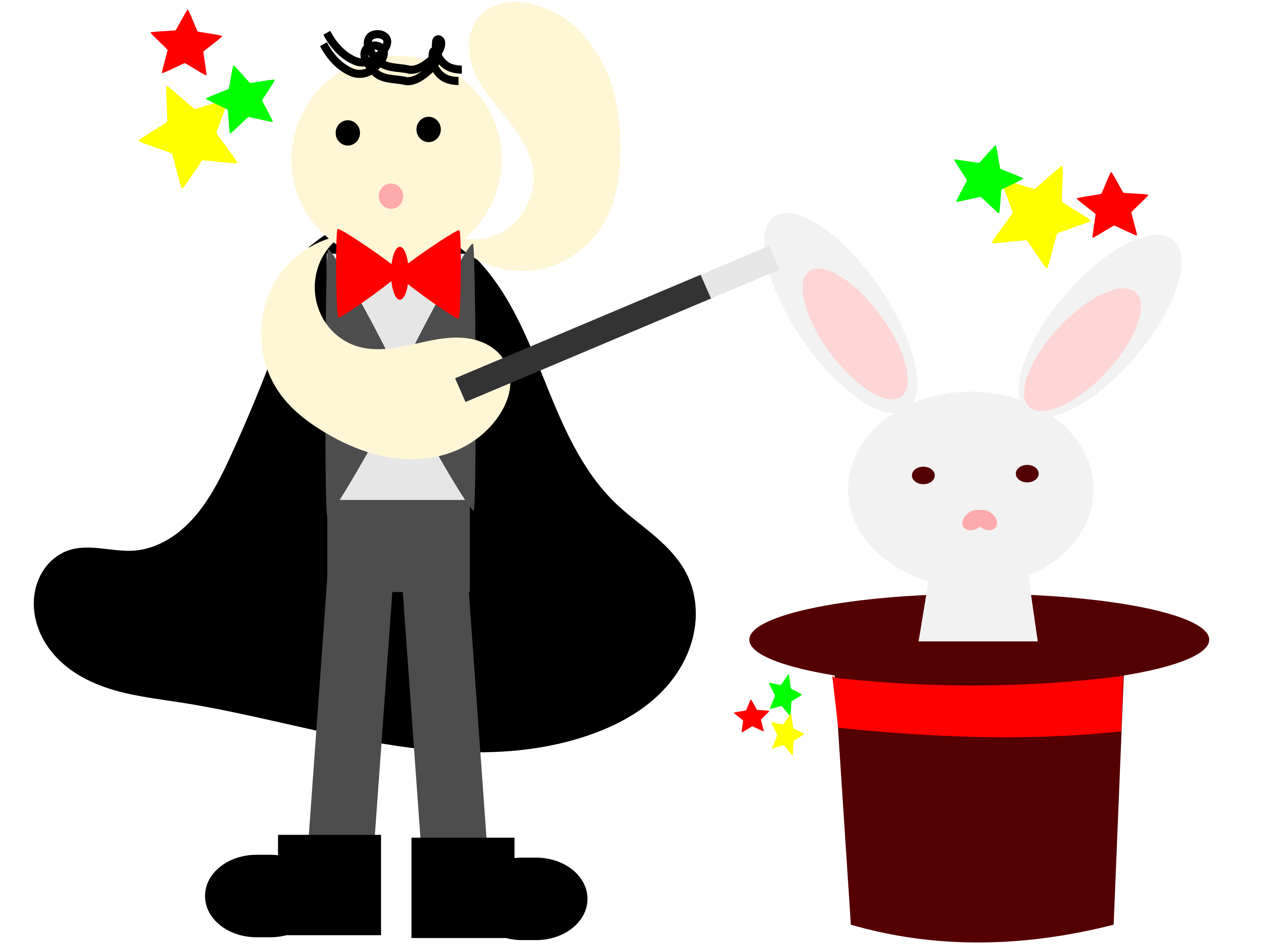 jpg download Magician clipart. With a rabbit in.