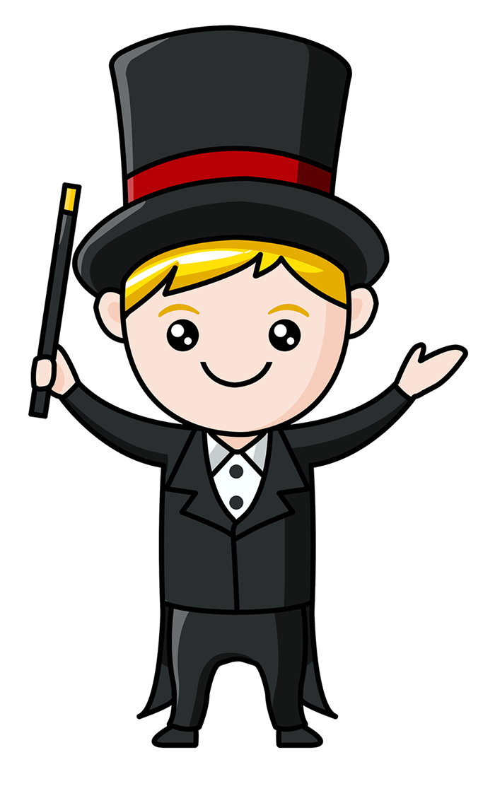 picture Magician clipart. King boy frames illustrations.