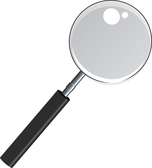free library Magnifying with transparent i. Magnify glass clipart