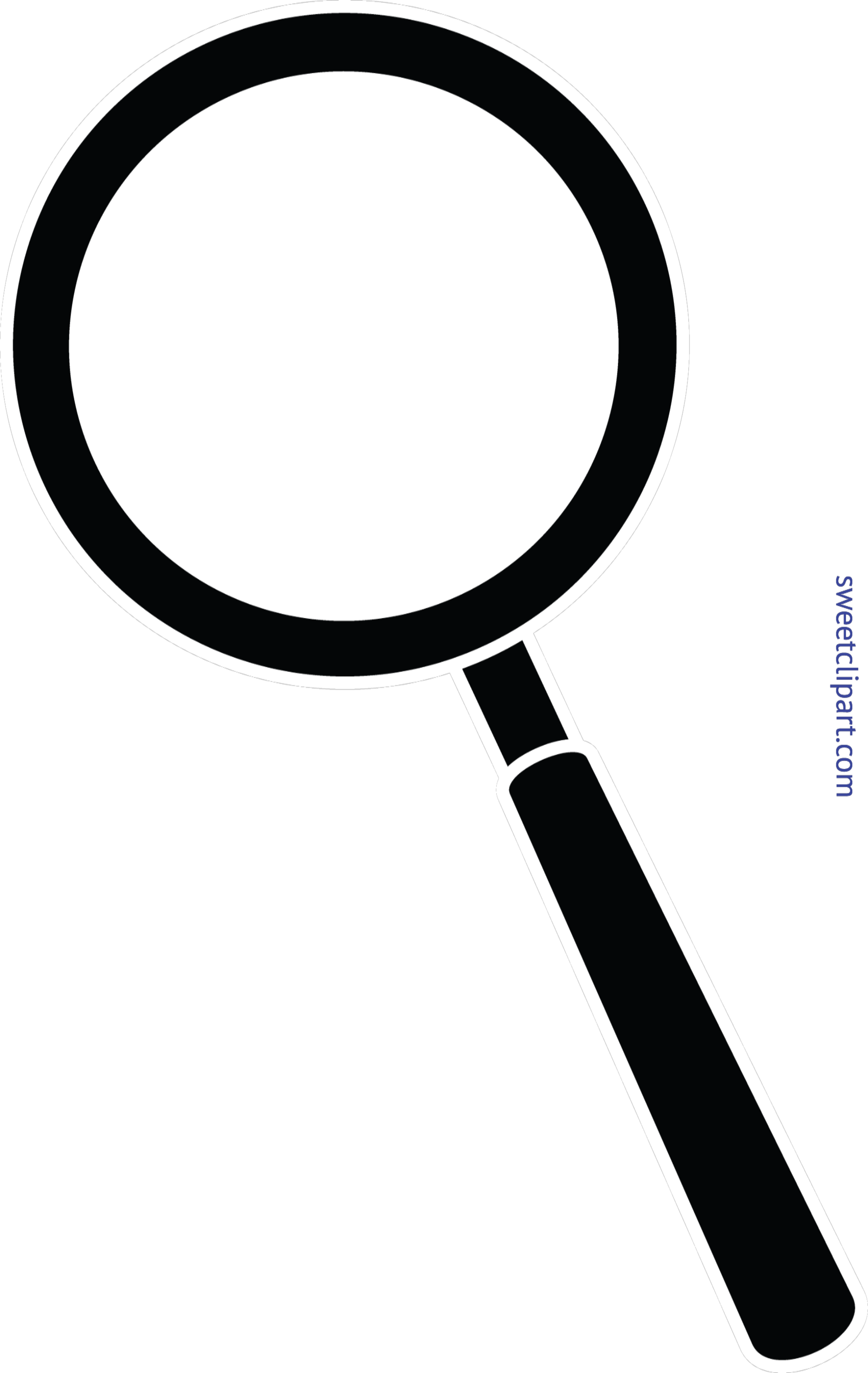 graphic transparent stock Glass black clip art. Magnifying clipart