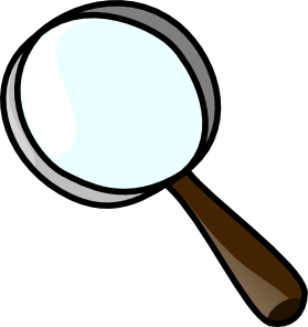 image freeuse stock Magnifier clip art at. Magnifying clipart box.