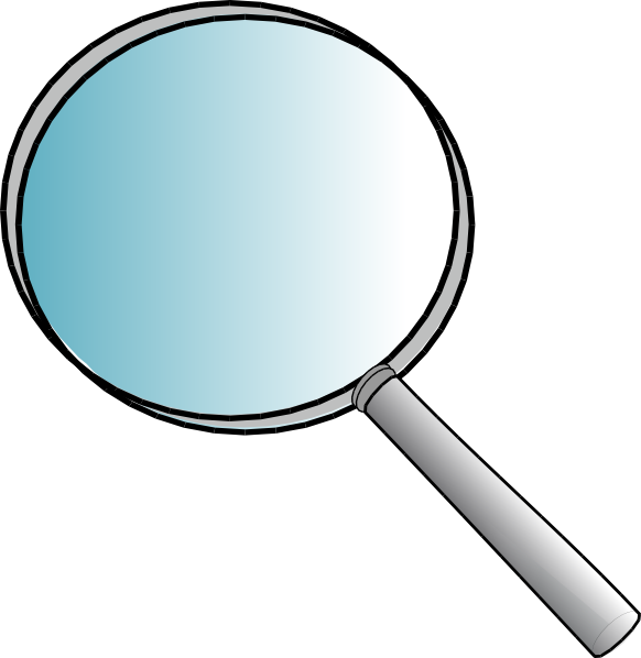 free Physics clipart scientific evidence. Magnifying glass
