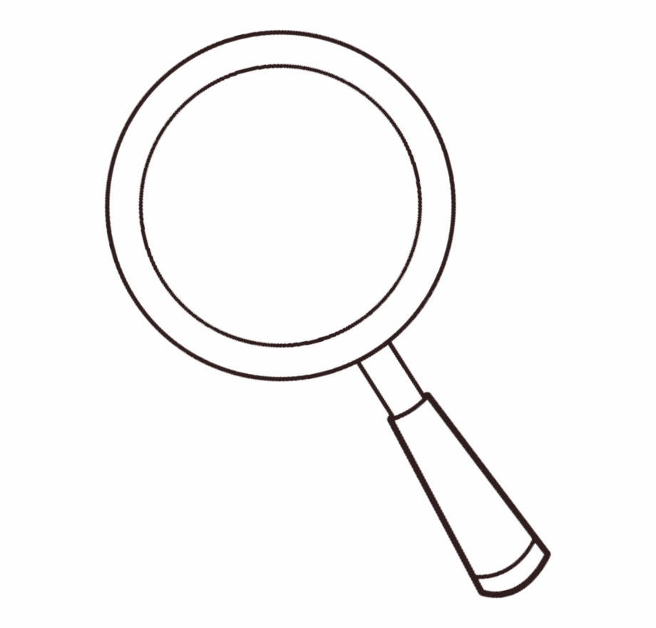 graphic stock  glass black. Magnifying clipart number.