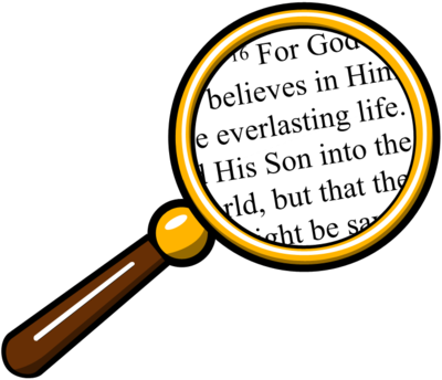 jpg royalty free download Image glass over bible. Magnifying clipart number.