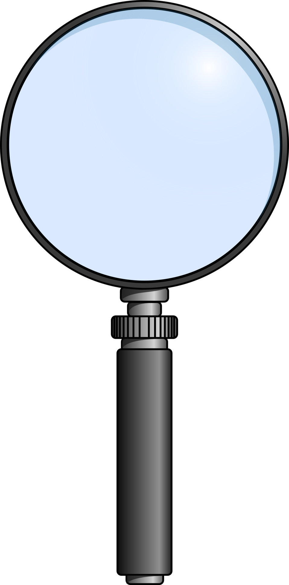 black and white library Public domain clip art. Magnifying clipart number.