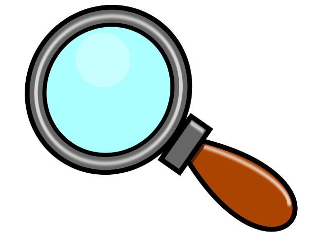 png transparent library Glass and fish emoji. Magnifying clipart number.