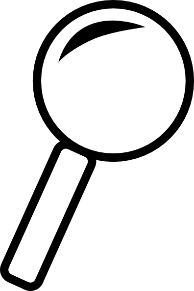 jpg download Clip art at clker. Magnifying glass clipart black and white