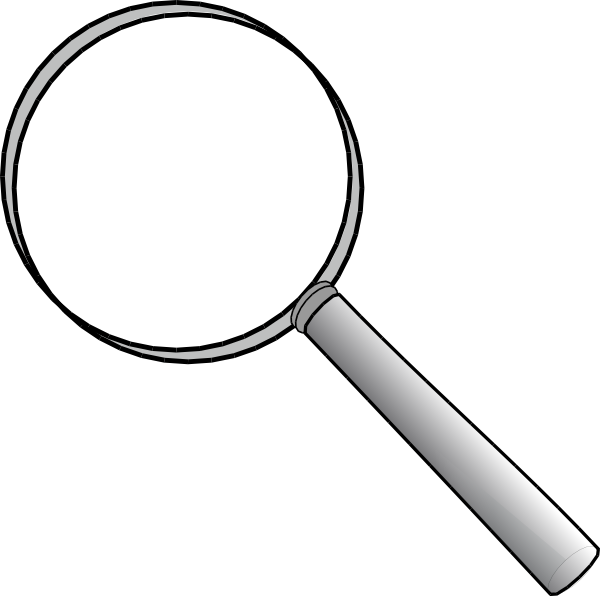 image freeuse Magnifying glass clipart black and white. Clip art at clker