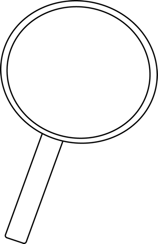 image free download Magnifying glass clipart black and white. Clip art