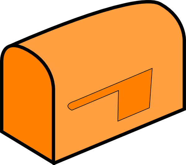 clipart black and white library Mail clipart house mailbox. Orange clip art at.