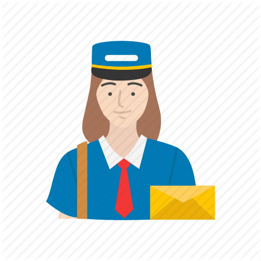 svg royalty free library Female professionals flat by. Mail clipart mail lady.