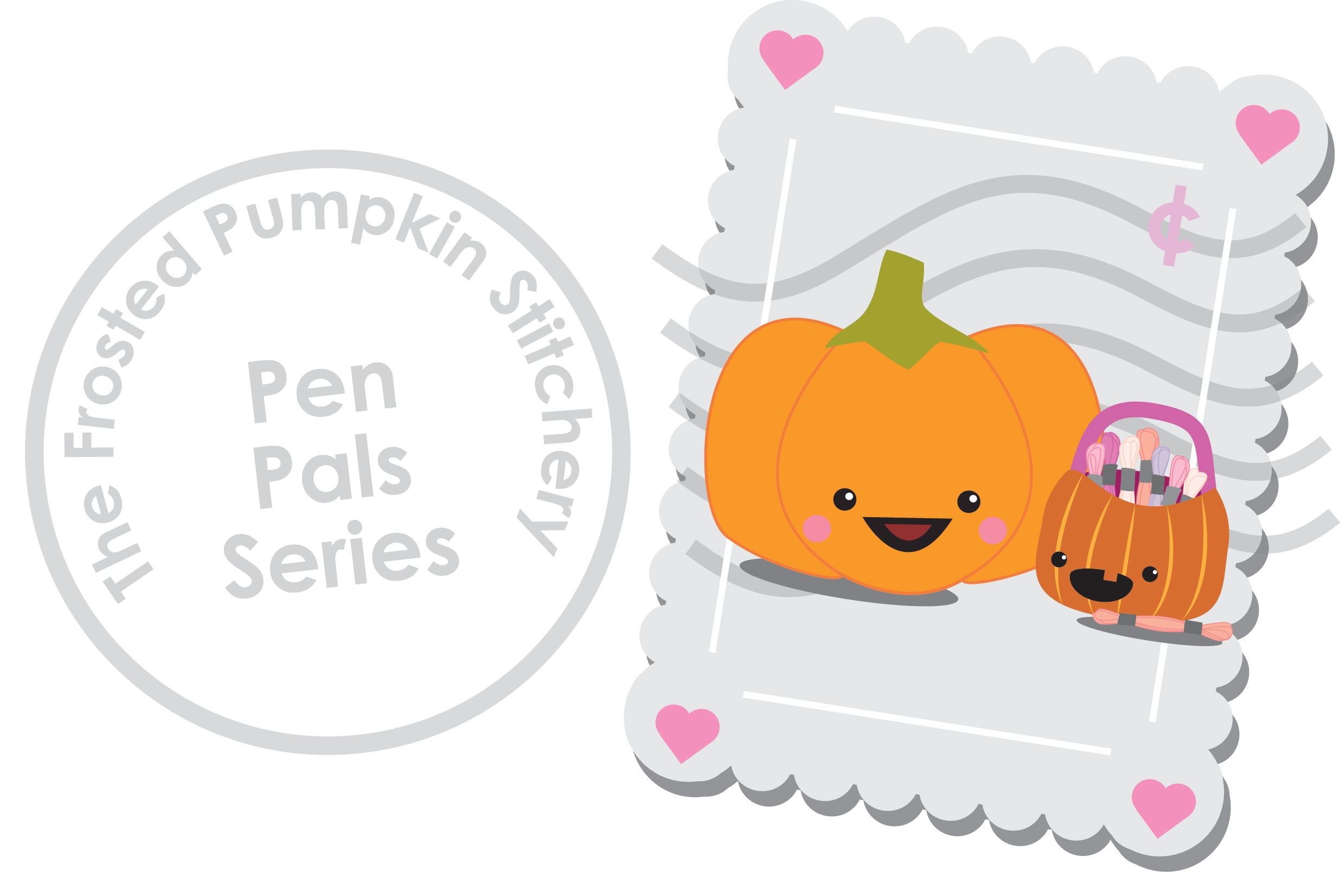 banner library Mail clipart pen pal. Pals the frosted pumpkin.
