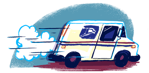 vector freeuse stock Mail Truck Drawing at GetDrawings