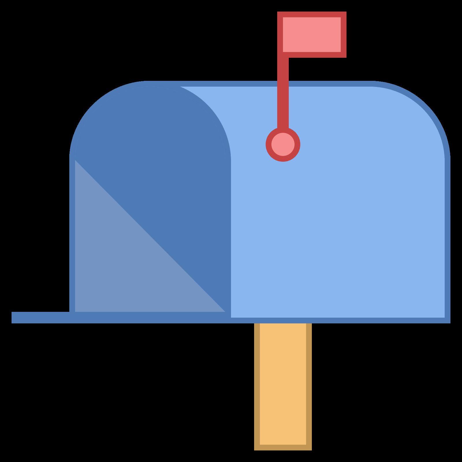 png free download Mailbox clipart flat. Caixa postal aberta bandeira.