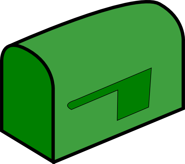picture Mailbox clipart green. Clip art at clker.