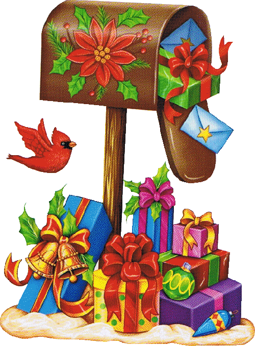 clipart royalty free CHRISTMAS MAILBOX CLIP ART