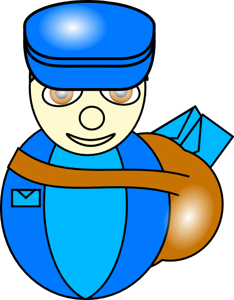 transparent library Mailman clipart. Clip art at clker