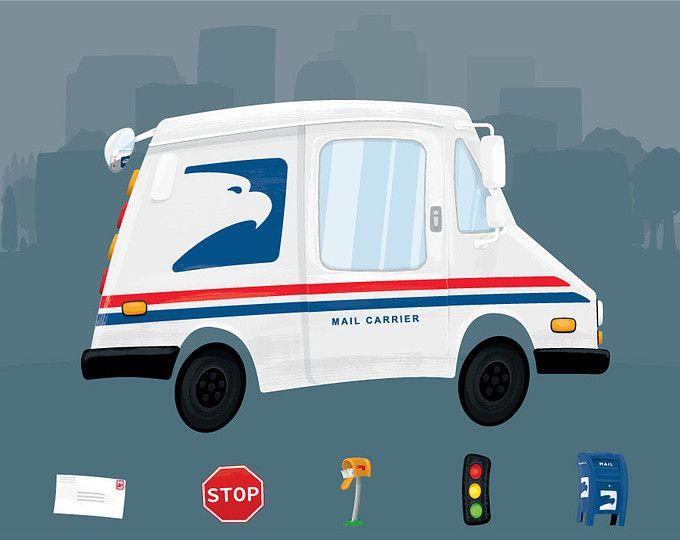 clip art free Mailman clipart car. Mail clip art digital.