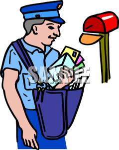clip freeuse stock Mailman clipart full mailbox. Frames illustrations hd images.