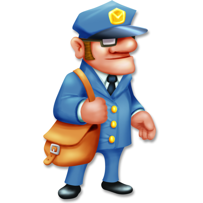 svg royalty free library Mailman clipart full mailbox. Alfred hay day wiki.