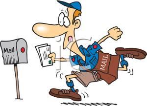 clip art royalty free stock Mailman clipart full mailbox. Frames illustrations hd images.