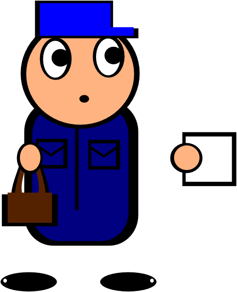 jpg royalty free stock Postman Clip Art at Clker