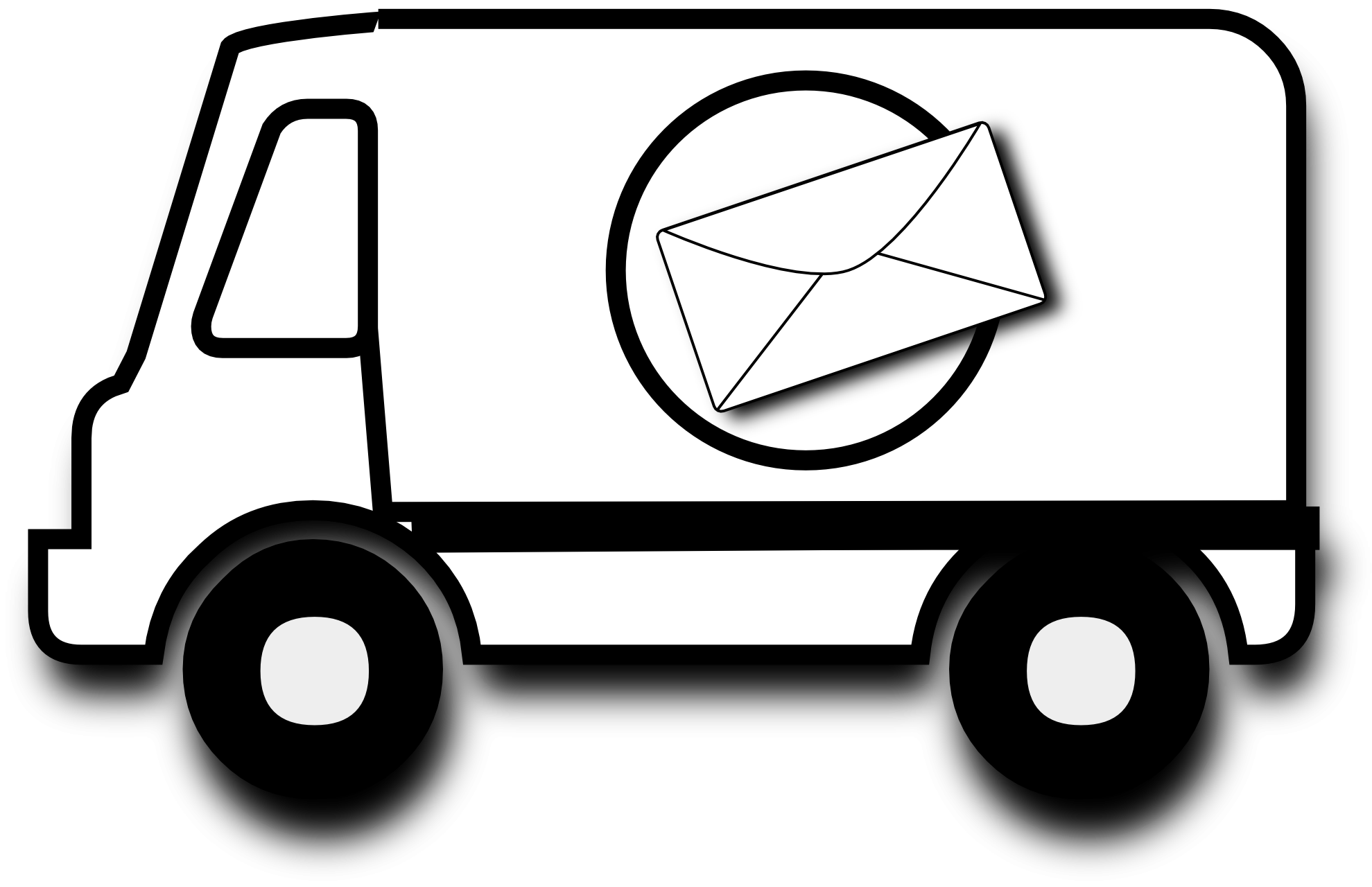 picture free Forklift clipart truck. Mail black and white