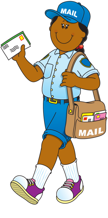 graphic freeuse download Free download best on. Mailman clipart mailwoman.