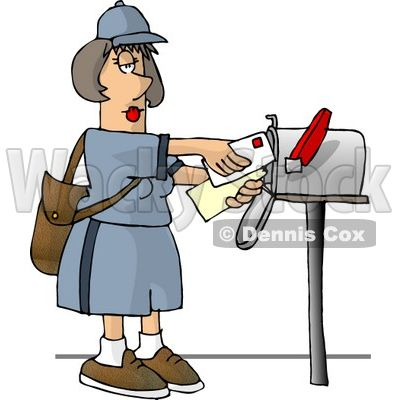 svg royalty free library Pin on envelopes . Mailman clipart mailwoman.