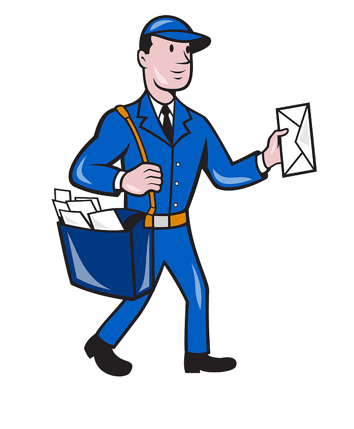 graphic freeuse library Postman PNG Image