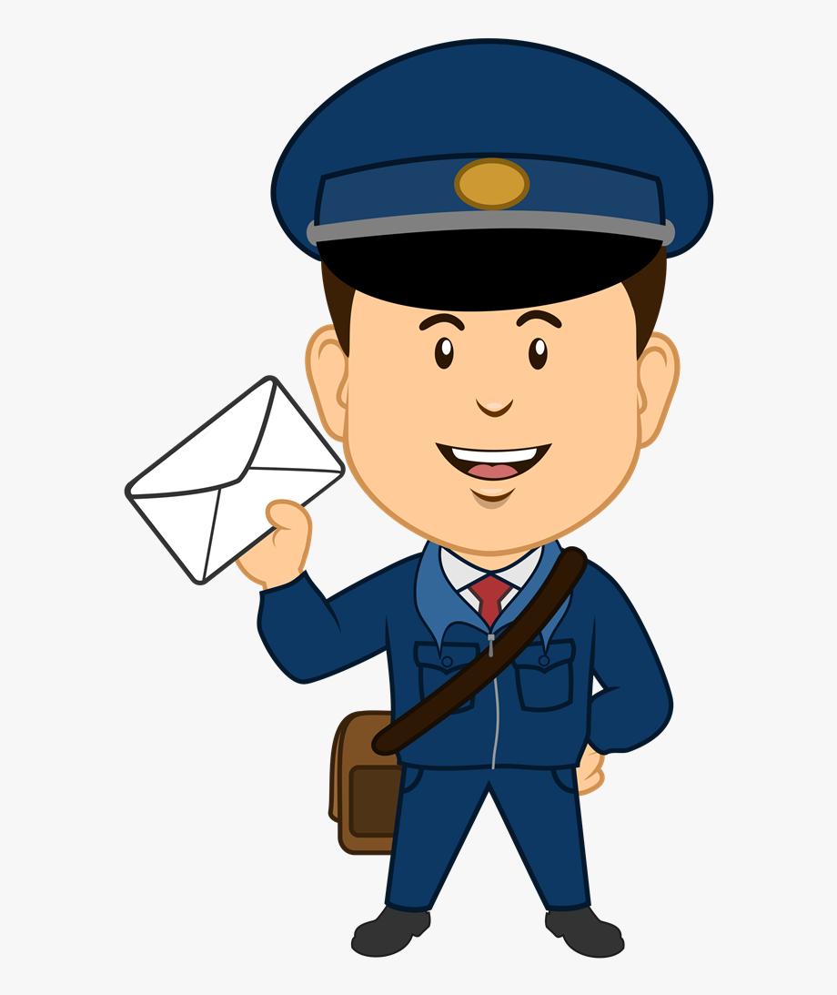 image transparent Transparent cartoon . Mailman clipart postman uniform