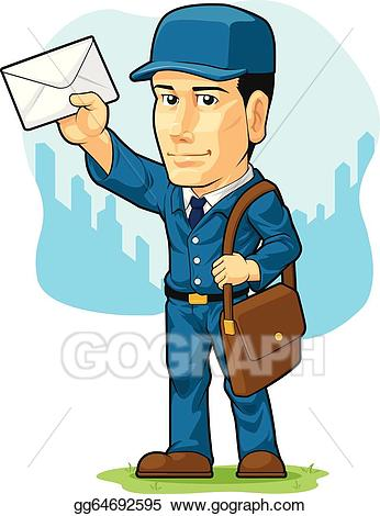 svg download Mailman clipart postman uniform. Clip art vector cartoon