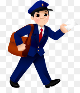 black and white stock The mail carrier clip. Mailman clipart postman uniform