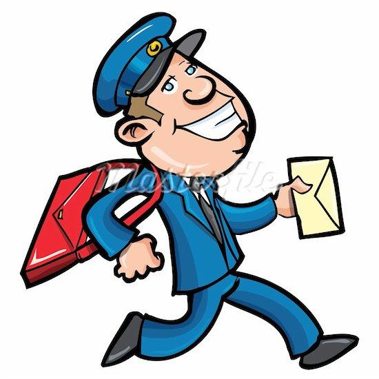 jpg black and white Mailman clipart postman uniform. Panda free images mailmanclipart