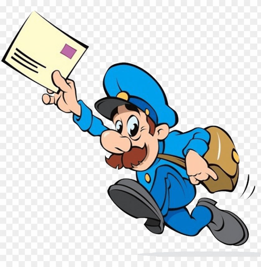 vector royalty free library Mailman clipart transparent. Download postman png photo.