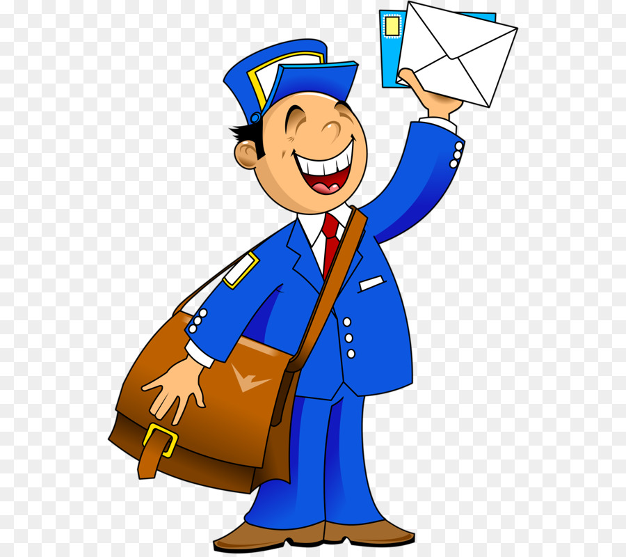 banner library download Mail carrier male . Mailman clipart transparent.