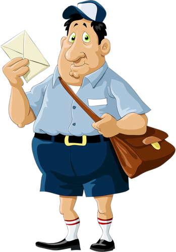clipart royalty free Mailman clipart transparent. Postman png image with.