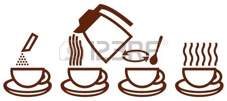 clip royalty free Make clipart coffee. Stock vector instant mood.