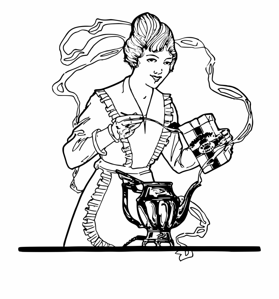 picture download Woman making big image. Make clipart coffee.