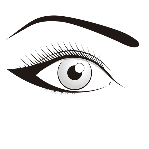 vector freeuse Make up eye illustration