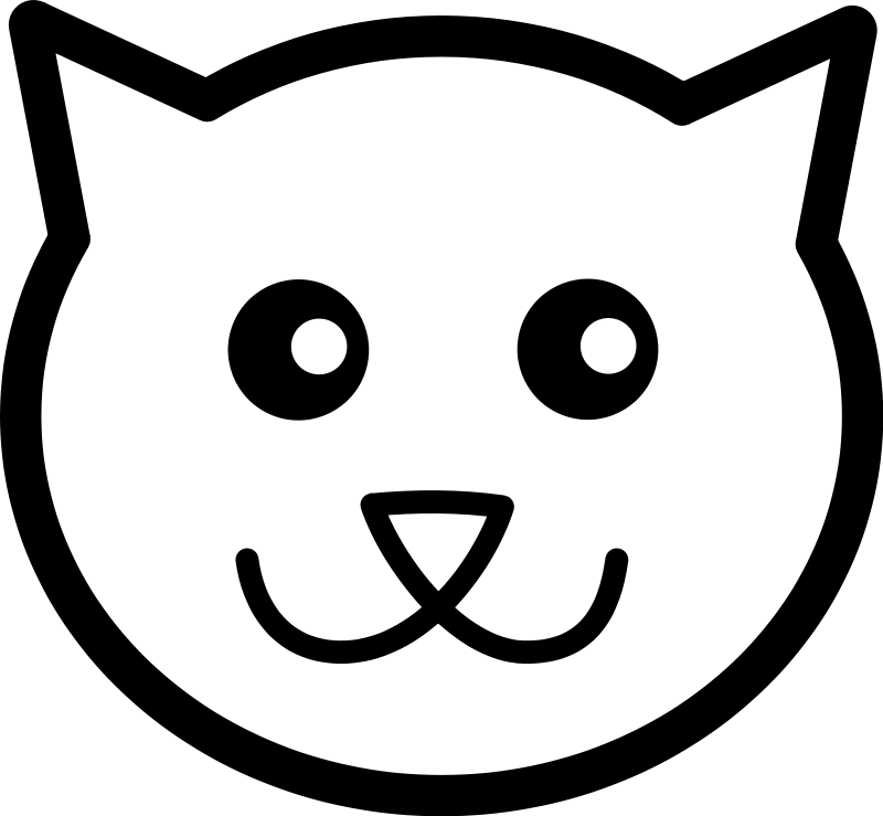 clipart transparent library Cat Face Drawing Cartoon at GetDrawings
