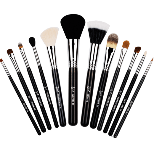 royalty free stock Range Of Makeup Brushes transparent PNG