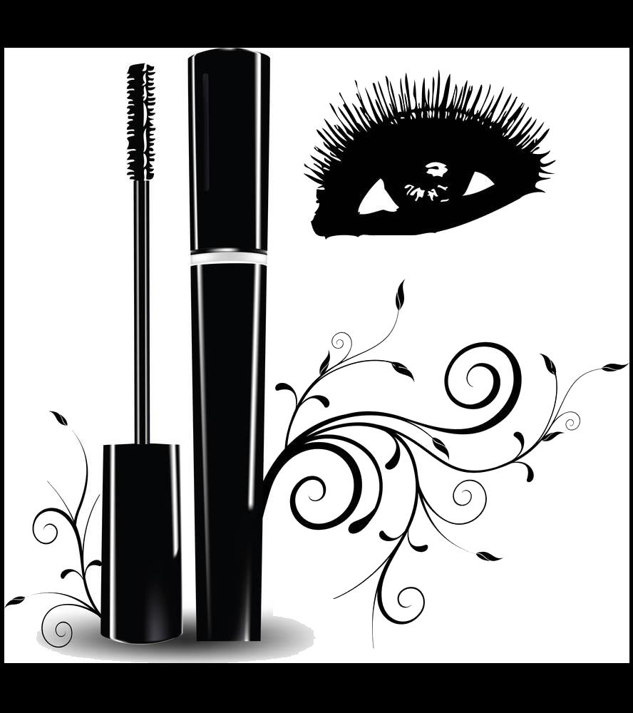 vector transparent stock Eyelash extensions Brush Clip art
