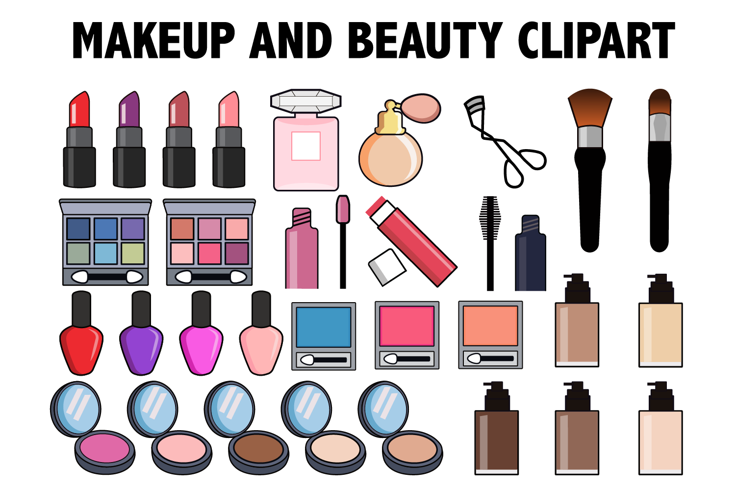 banner royalty free stock And beauty . Makeup clipart