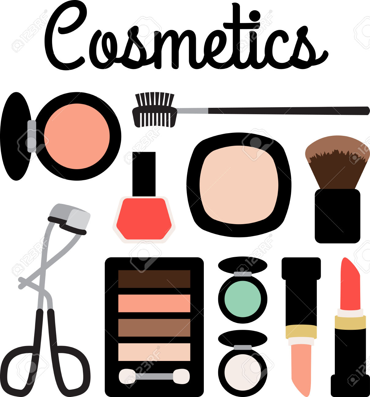 picture freeuse stock Makeup clipart. Cosmetics free download best