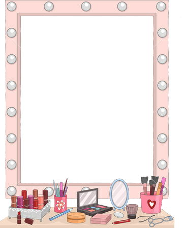 png freeuse Table sticker by miriam. Makeup clipart vanity mirror.