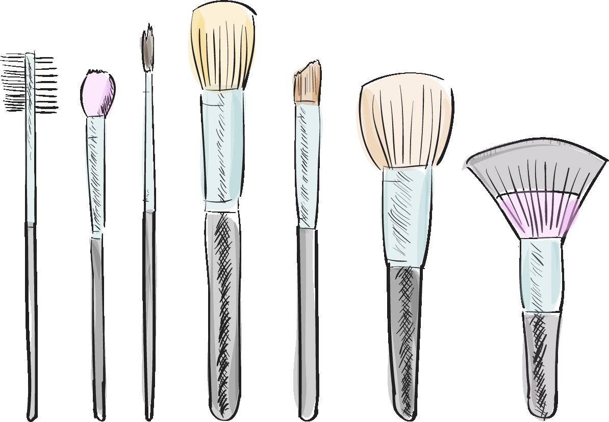 jpg library stock Makeup Brushes Drawing at GetDrawings