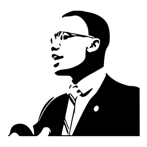 clipart black and white library Cliparts of free download. Malcolm x clipart